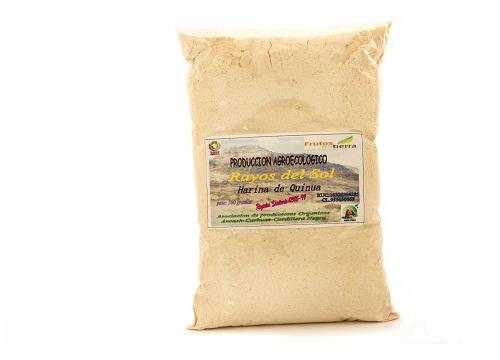 Harina de quinua cruda convencional y orgánica