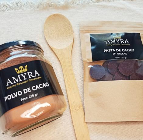 Pasta y polvo de cacao